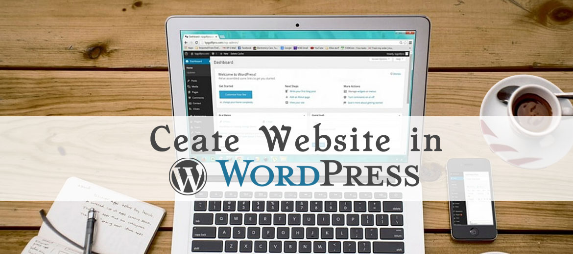 Create website in wordpress